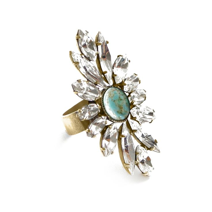 Thea Crystal Ring