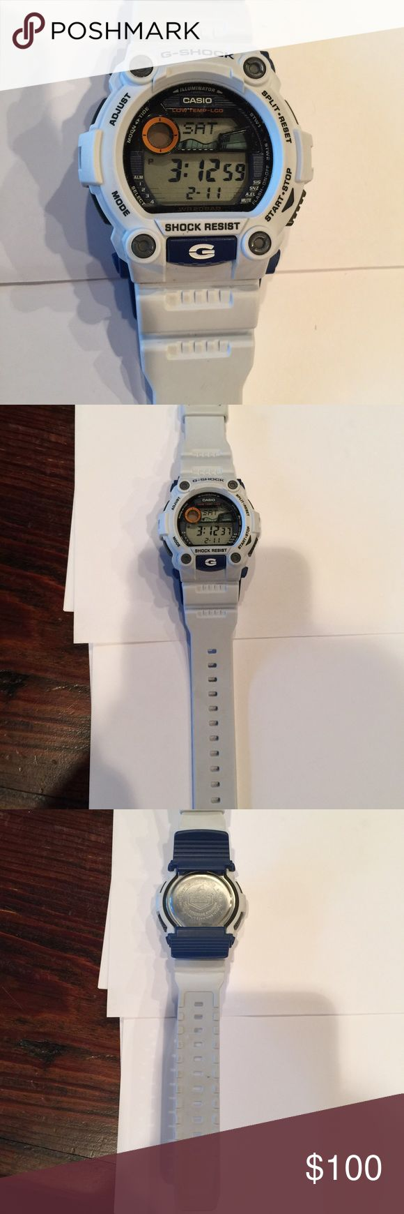 White G Shock Watch Great condition! No signs of wear! Accessories Watches