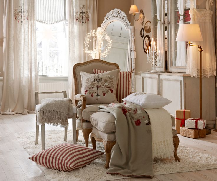 My inner landscape.  Christmas bedroom.