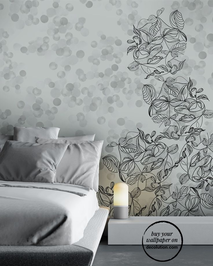 Hiver - In grey tones, a wallpaper recalling winter colours with decorative elements taken from nature; a Nordic design for a modern unpretentious home.www.decolution.com #wallpaper #cartadaparati #cartedaparati #papelpintado #papierpeint #tapete #wallcovering #designityourself #DIY #wallpapershop #wallpaperonline #wallcovering #interiordesign #homedecoration #home