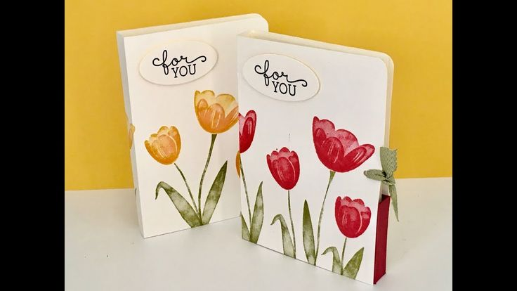 Note Card Gift Set - Video Tutorial with Tranquil Tulips from Stampin' Up