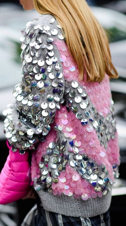 Sequin top with sleeves
