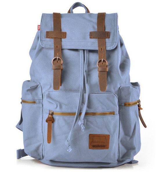 """Casual Vintage School Outdoor - 17"""" Laptop Compartment #canvasbackpack"""