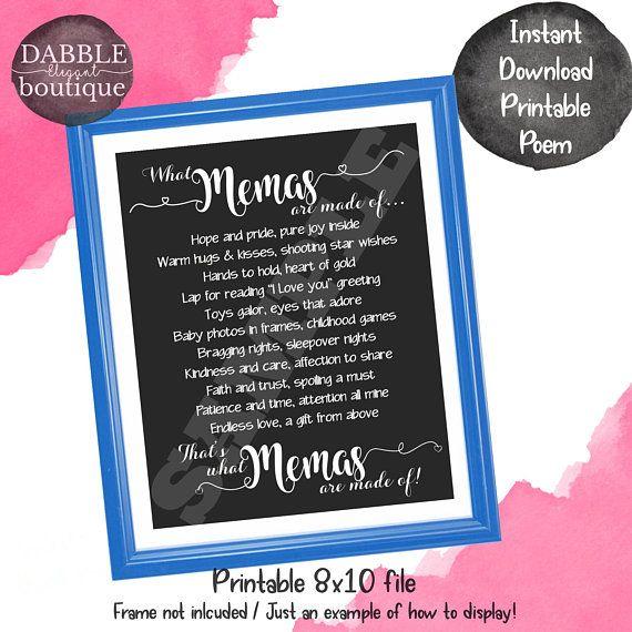 Mema Print Mema Printable Mema Gift Mema Mothers Day Gift