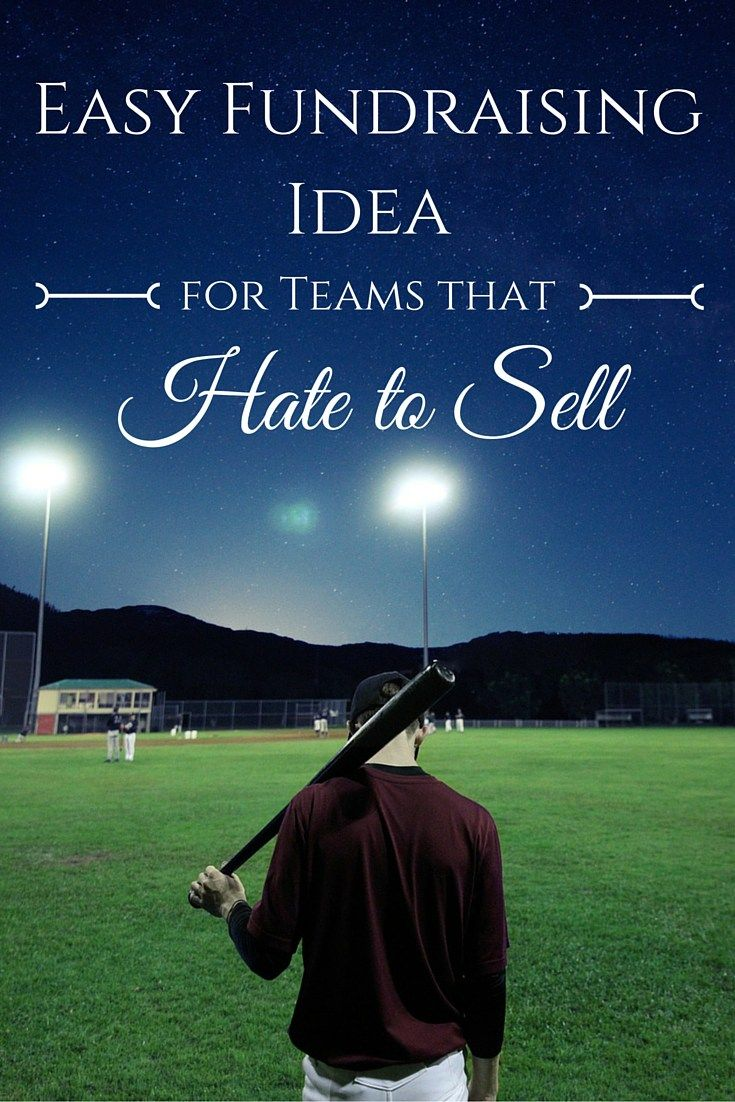 Easy fundraising idea for teams that hate to sell. You'll be surprised by how easy this fundraiser really is!