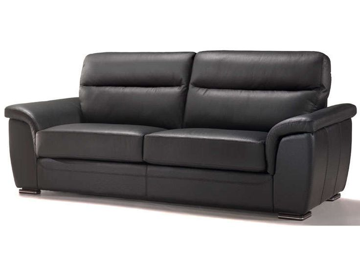 Canapé fixe 3 places GIOVANNI cuir coloris noir prix promo Canapé cuir Conforama 999.00 € TTC.
