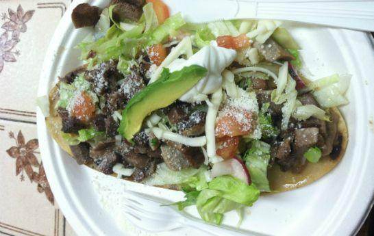 Huaraches, mexican dish
