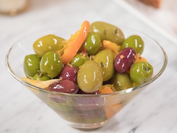Get Warm Citrus-Marinated Olives Recipe from Food Network