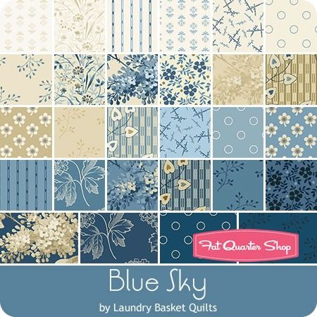 "Blue Sky Charm Pack Laundry Basket Quilts for Andover Fabrics - Charm Packs & 5"" Squares 