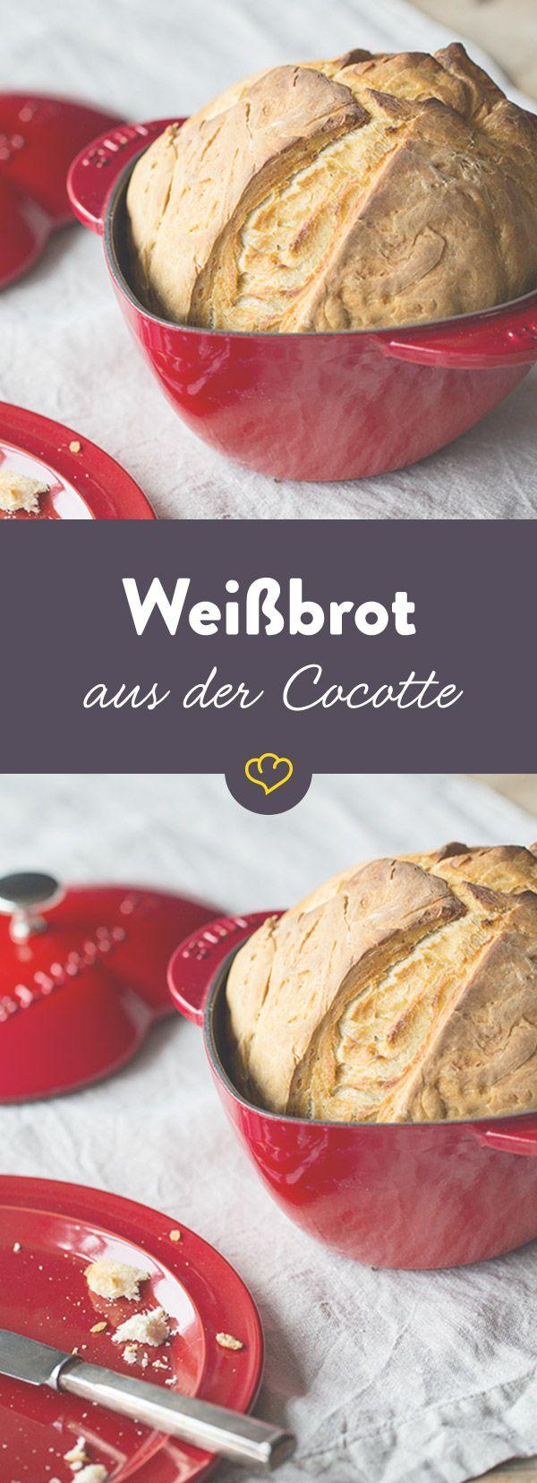 Frisch aus deiner Cocotte: Ob zum Abendbrot oder als Beilage bei einer Mahlzeit, für ein leckeres, warmes Brot findet sich immer eine Gelegenheit.