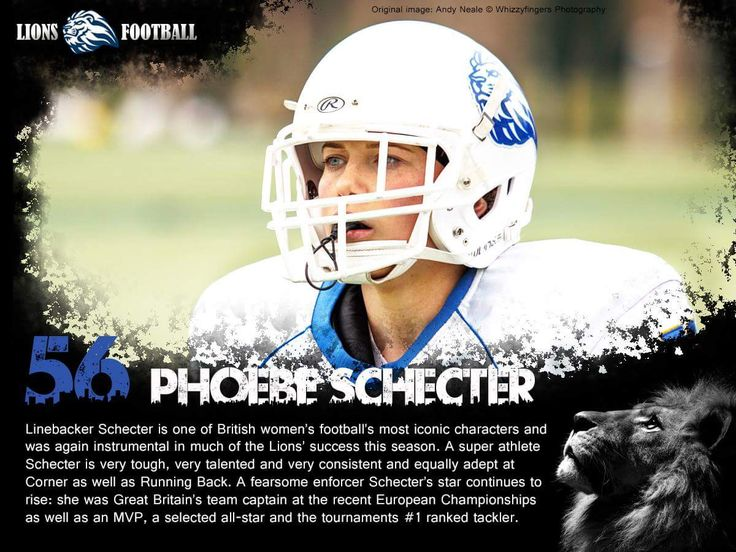 Lions friends and fans, say hello to #56, Lions & GB Linebacker, Phoebe Schecter.  Birmingham Lions Women's American Football Team