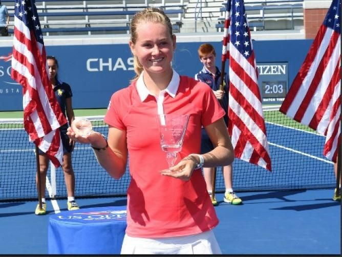 Omar Jasika wins the Boys and Marie Bouzkova wins the Girls event of the US Open