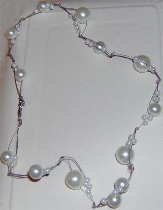 collana perle cavetto acciaio