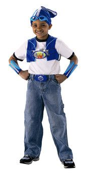 Lazy Town LazyTown Super Sportacus Set Dress up like Lazy Town character, Sportacus with this super set consisting of cap, goggles, moustache, armbands, belt buckle and magic motion sensor crystal. Dance to fun phrases and music. http://www.comparestoreprices.co.uk/childs-toys/lazy-town-lazytown-super-sportacus-set.asp