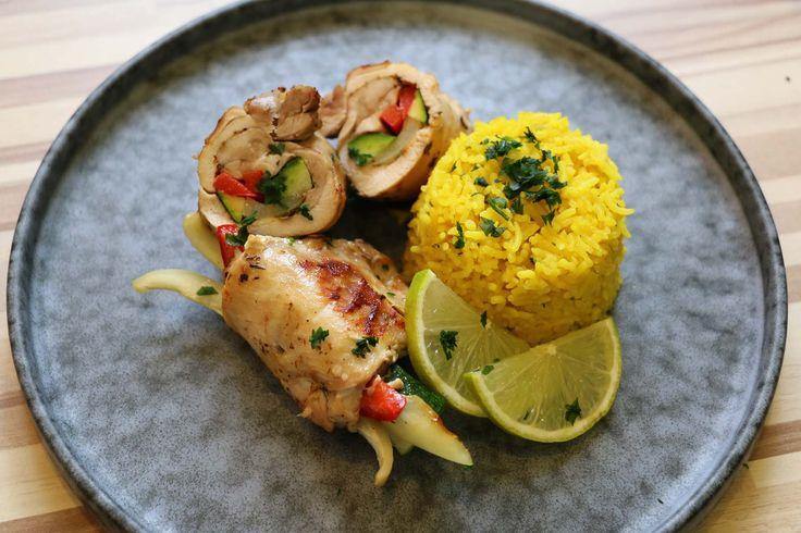 Csirke  zöldségek rizs curry