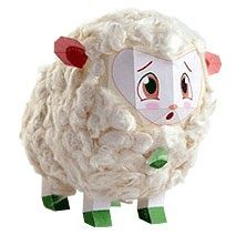 Here's a sheep papercraft we named Dolly, from Korean site Farm Jr. I'm not really quite sure what their site is all about, there's a bunc...