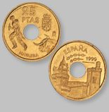 25 Pesetas de la Antigua Moneda Española - Money Made in Spain