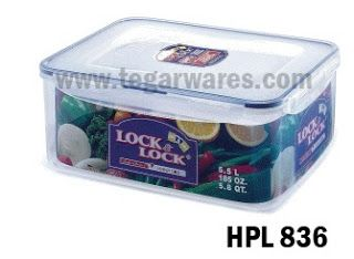 Lock n Lock Rectangular Series type HPL 834: Size 295x 230 x 84mm capacity 3.9 L
