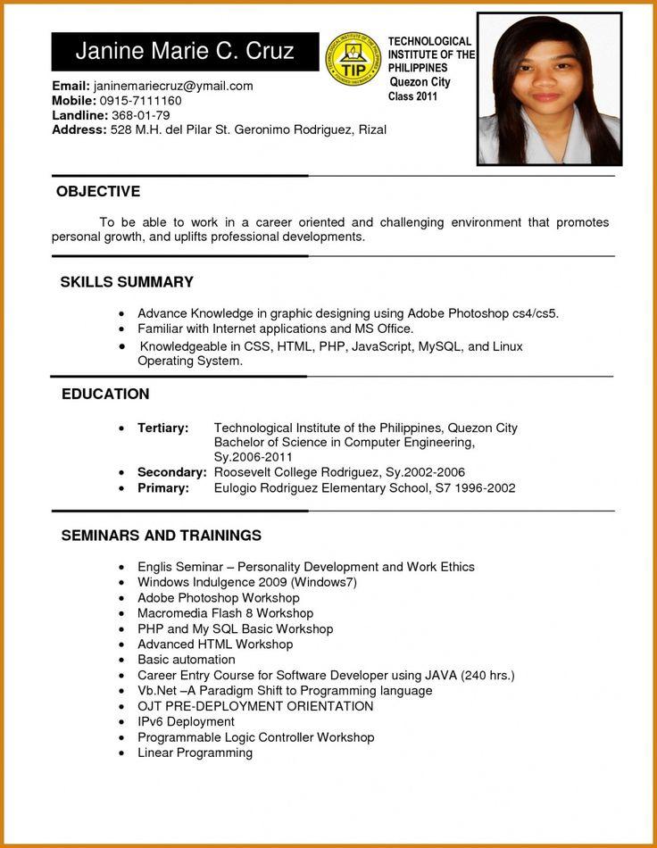Resume Format For Job Job Resume Format Resume Format Job Resume Template