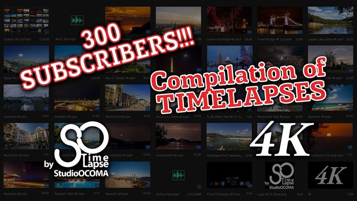 4K Timelapses & Hyperlapses Best Compilation +300 Subscribers