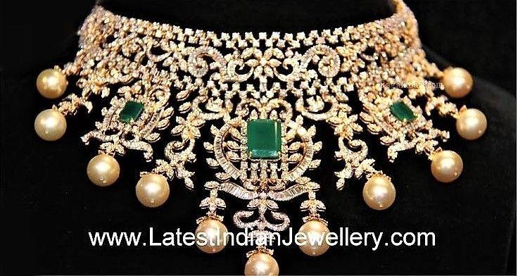 Diamond Necklaces Royal Diamonds Designs Chokers The Latest
