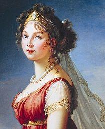 'Luise: der Kleider der Königin'. Luise von preußen, by Elizabeth Vigée Le Brun. One of the portraits in the book.