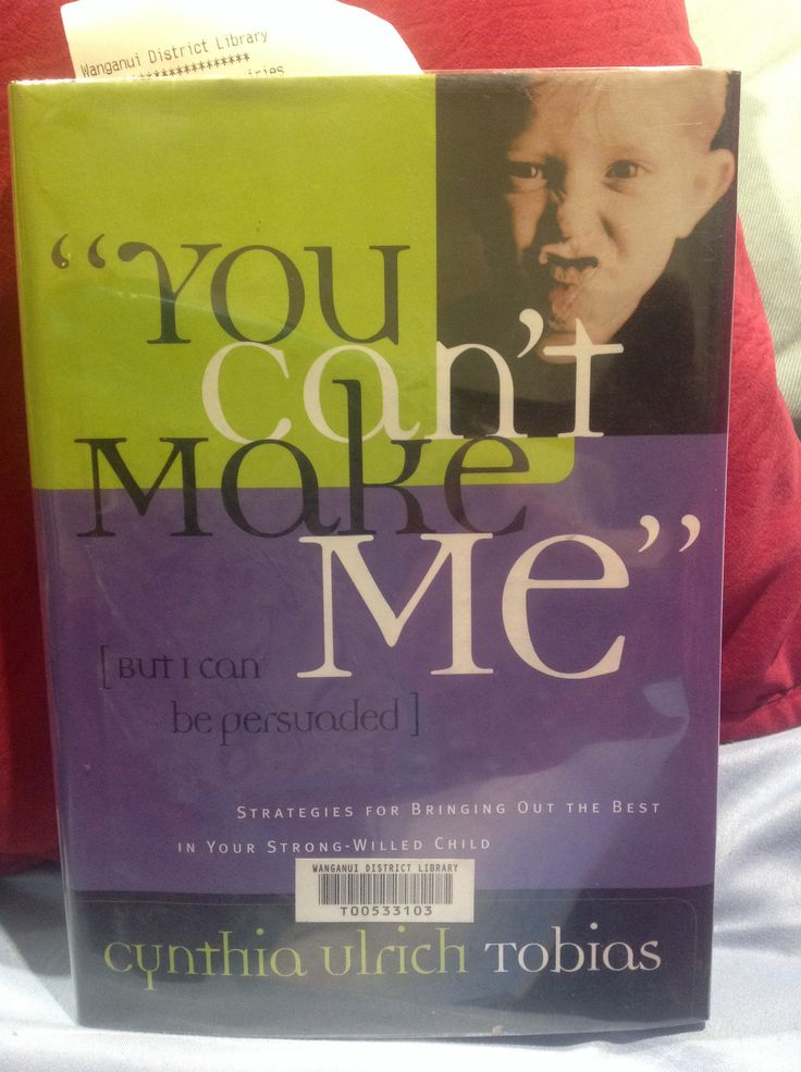 "Very good book on Strong Willed Child. ""You can't make me, [but I can be persuaded]"" by Cynthia Urlich Thomas. Strategies for bringing out the best in your strong-willed child. I'm looking for more of this authors books."
