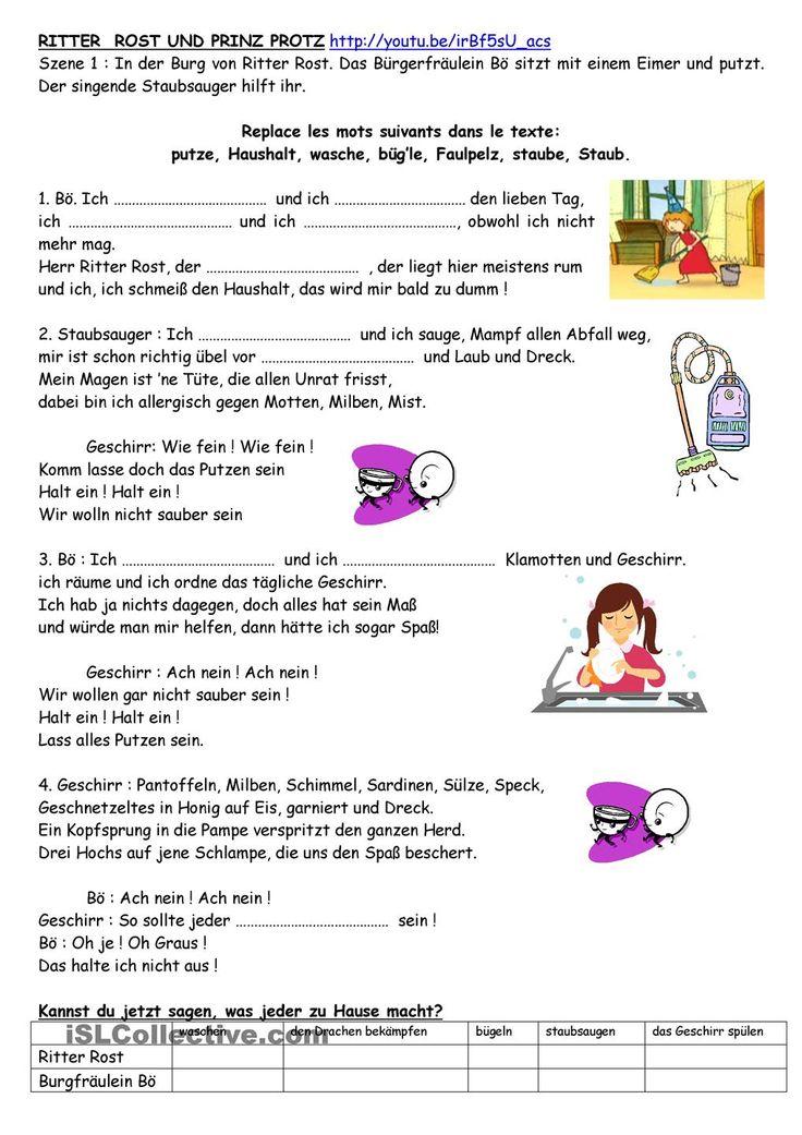 Nice Worksheets Menu Student centered Resources German Education