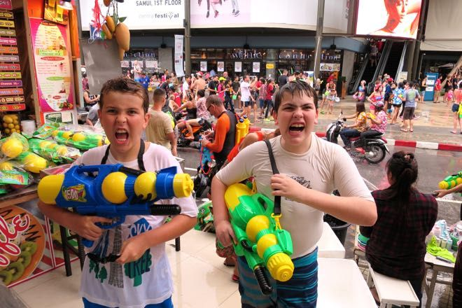 Koh Samui with Children – Songkran Festival in Chaweng