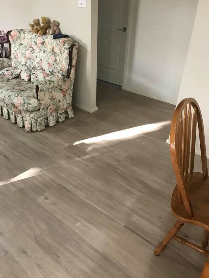 We Certainly Are A One Stop Shop Our Customer Selected Plantation Shutters Vinyl Carpet To Spruce Up Her Home Onestop Flooring Blinds Plantation Shutters