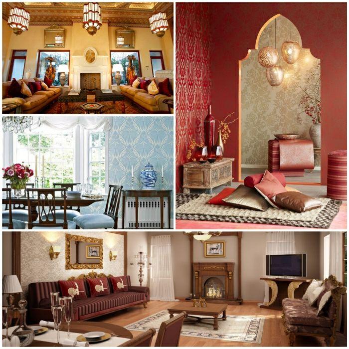 orientalische mobel einrichtung ideen orientalische stoffe | in, Wohnzimmer