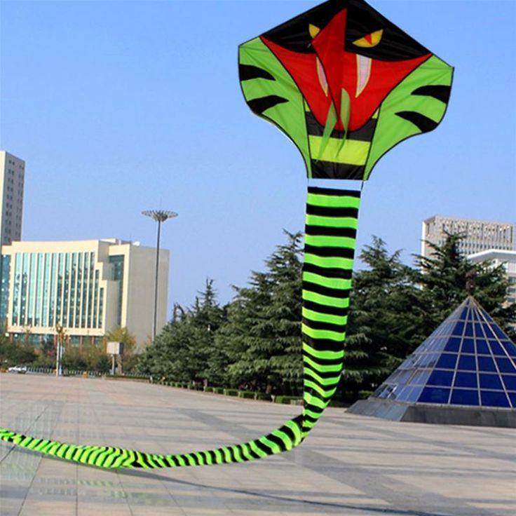 Snake Kite Painting Outdoor Fun Sports 120CM Cobra Kite Flying Higher Big Kites Child Toys Gifts