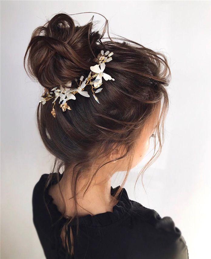 40 Elegant Pretty Bun Hairstyle For Long Hair 2019 Hairstyles