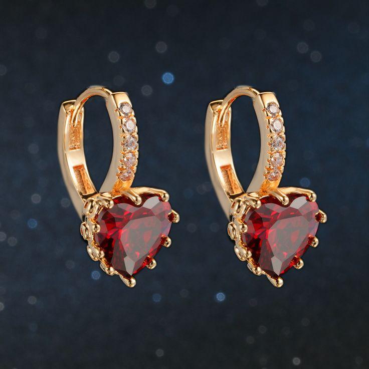 Classic Design Rose Gold Plated Cushion Cut Big Cubic Zirconia Wedding Hoop Earrings for Women DFE818