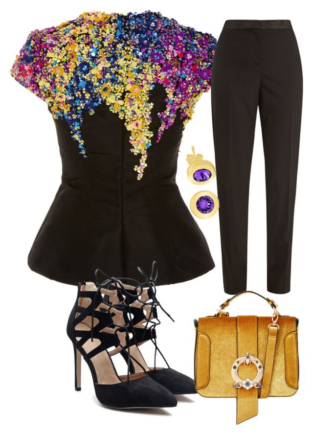 Untitled #687 by cathatin on Polyvore featuring polyvore, fashion, style, Oscar de la Renta and clothing