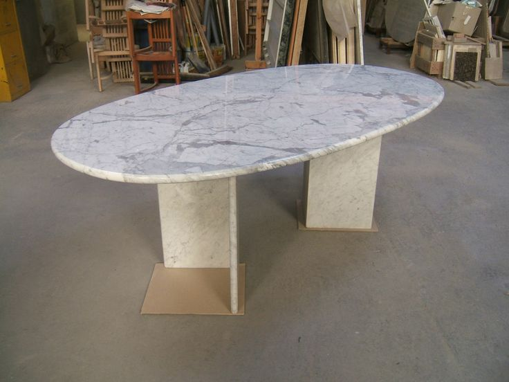 Genuine solid White CARRARA MARBLE dining table  200x110cm