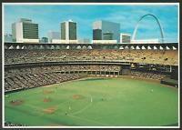 Busch Stadium St Louis Cardinals Baseball Postcard NFL Football