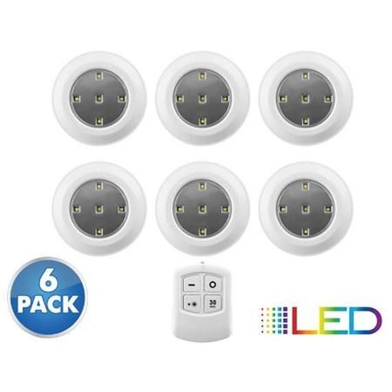 [6-Pack] Liger Wireless LED Puck Lights with Remote Control