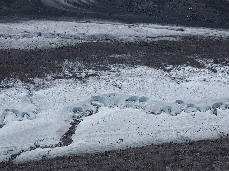 https://flic.kr/p/ACyYFA | Extreme Environments - Meandering meltwater streams and moraines on the Gorner Glacier, Zermatt, Valais, Switzerland