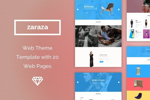 Zaraza Web Theme Template by Designerbundle on @creativemarket