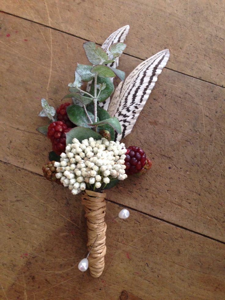Native buttonhole by Merci Bouquet.