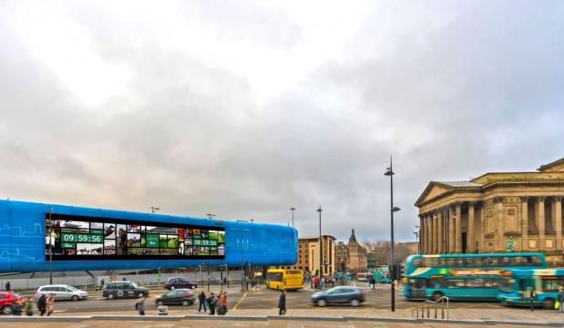 ITV live streamed the Grand National across large format digital OOH in Liverpool, Manchester & London. Goodstuff (agency) and Ocean Outdoor (supplier) involved, also other advertising including VR.