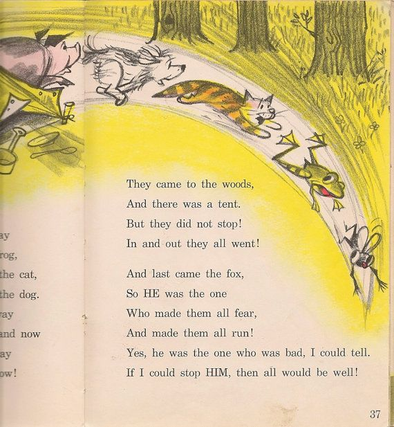 VINTAGE KIDS BOOK A Fly Went By