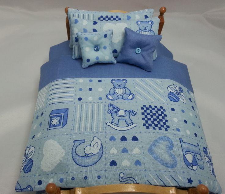 Dolls House Miniature Single Bedding Set