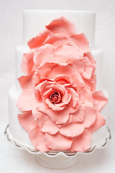 Gorgeous Embellished Wedding Cakes | Wedding Planning, Ideas & Etiquette | Bridal Guide Magazine