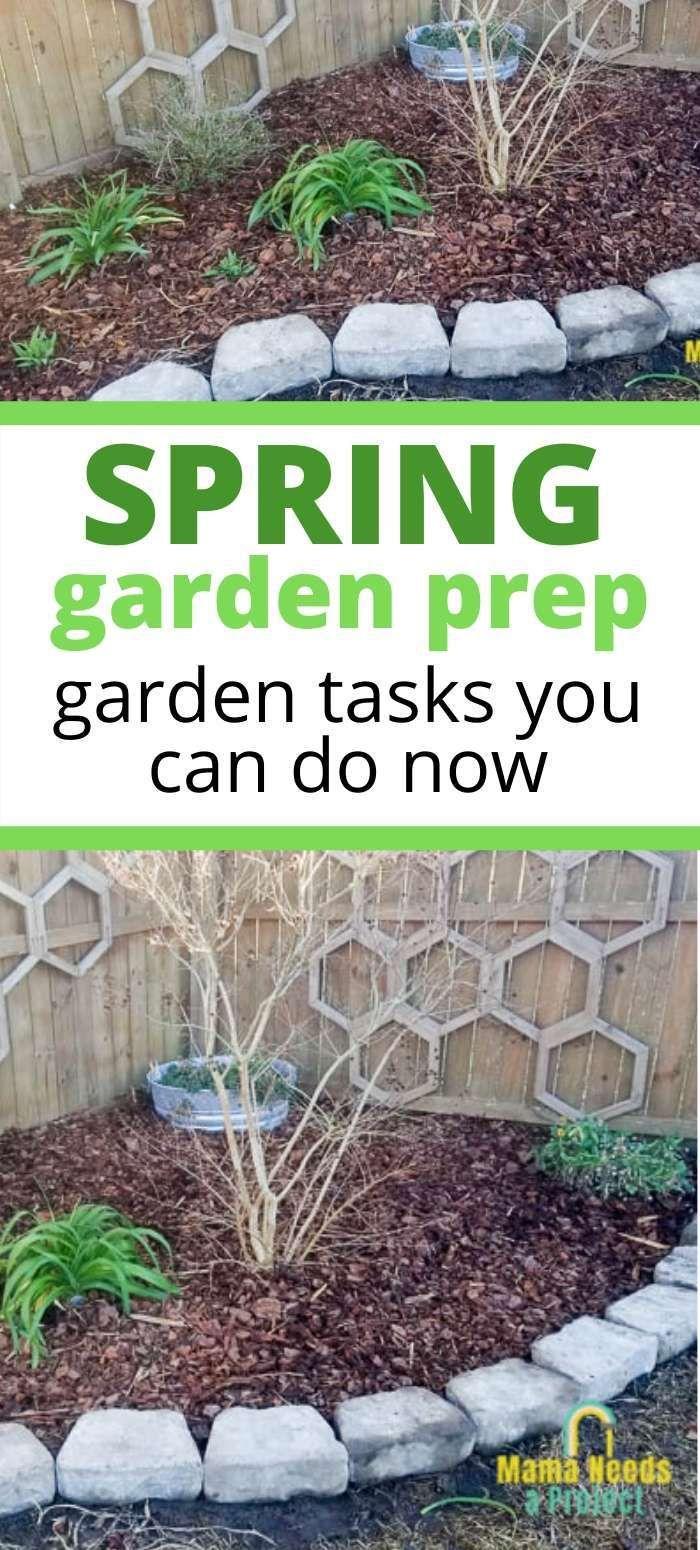 Preparing The Garden For Spring Garden Prepping Spring Garden Flowers Garden Preparation Diy backyard clean up