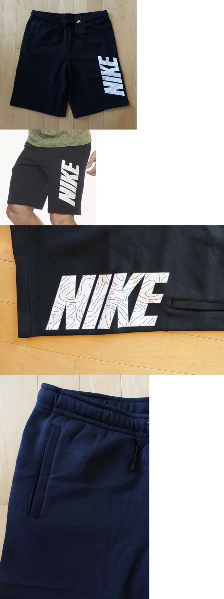 Athletic Apparel 137084: Nwt Nike Men S Logo Fleece Shorts Black White L Xl Xxl -> BUY IT NOW ONLY: $36.95 on eBay!