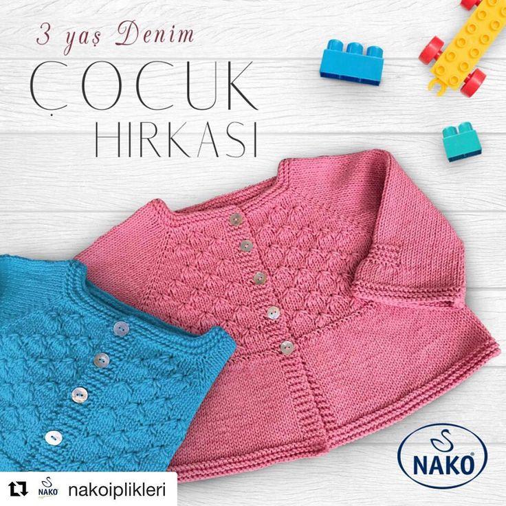 """721 Beğenme, 6 Yorum - Instagram'da Nako İplikleri (@nakoiplikleri): """"@sibelkavaklioglu'nun @deryabaykallagulumse programında Nako Denim ile ördüğü 3 Yaş Denim Çocuk…"""""""