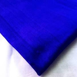 Fabric (Royal blue) Silk