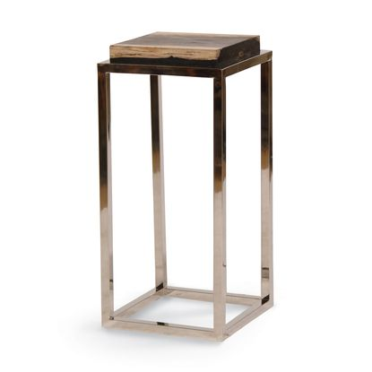 petrified wood pedestal large by palecek furniture on exclusive modern nesting end tables design ideas very functional furnishings id=27481